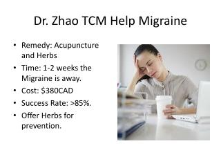 Dr. Zhao TCM Help Migraine