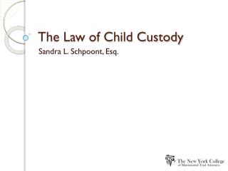 The Law of Child Custody