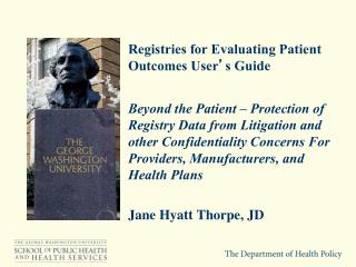 Registries for Evaluating Patient Outcomes User � s  Guide