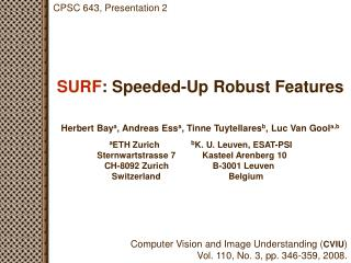 surf : speeded-up robust features