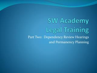 SW Academy Legal  Training