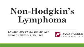 Non-Hodgkin's Lymphoma
