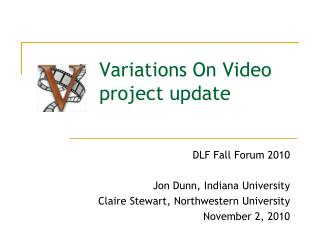 Variations On Video project update