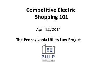 Competitive Electric  Shopping 101