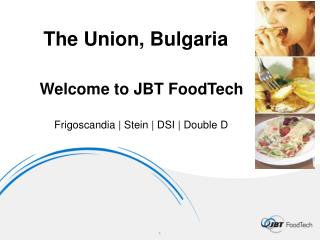 Welcome to JBT  FoodTech