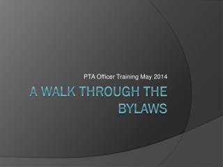 A Walk Through the Bylaws