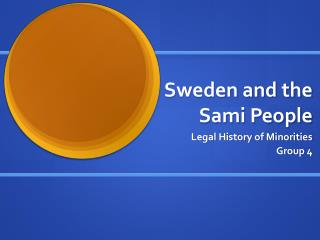 Sweden and the Sami People