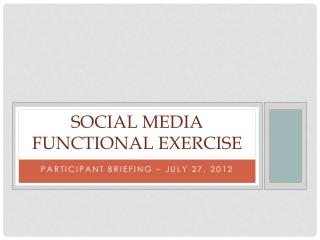 Social media functional Exercise