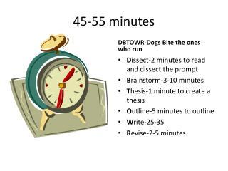 45-55 minutes