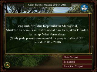 Ujian Skripsi , Malang 20 Mei 2011