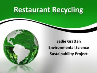 Restaurant Recycling