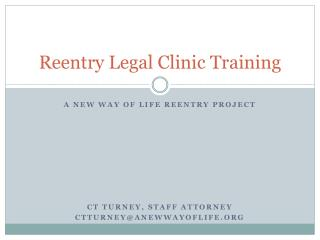 Reentry Legal Clinic Training