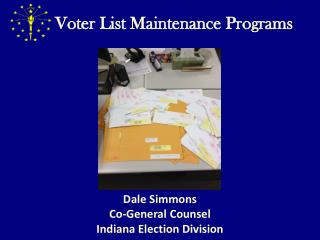 Voter List Maintenance Programs