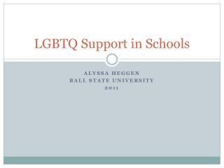 LGBTQ Support in Schools