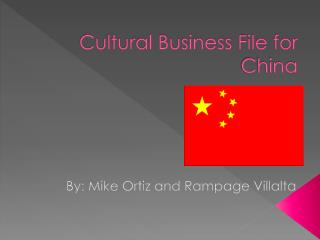 Cultural Business File for China