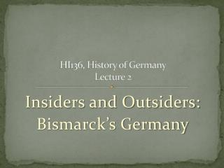 HI136, History of Germany Lecture 2