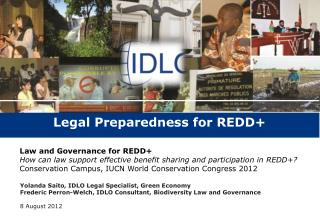 Legal Preparedness for REDD+