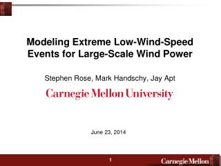 Modeling Extreme Low-Wind-Speed Events for Large-Scale Wind Power