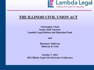 THE ILLINOIS CIVIL UNION ACT