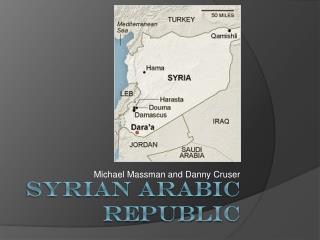 SYRIAn  Arabic Republic