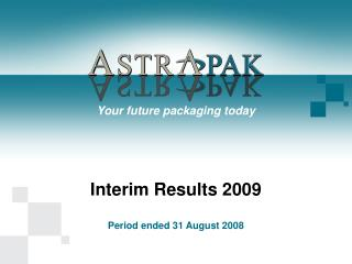 Interim Results 2009
