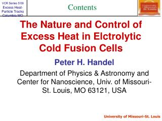 Elctrolytic Cold Fusion Cells