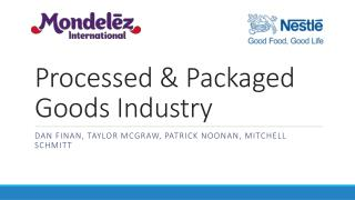 Processed & Packaged Goods Industry