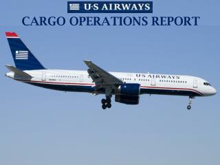 CARGO OPERATIONS REPORT