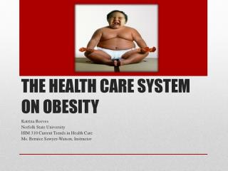 THE HEALTH CARE SYSTEM ON OBESITY