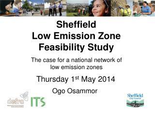 Sheffield  Low Emission Zone Feasibility Study