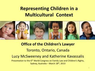 Representing Children in a Multicultural  Context