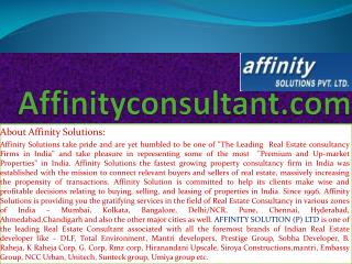 "dlf residential apartments in chennai |""affinityconsultant."
