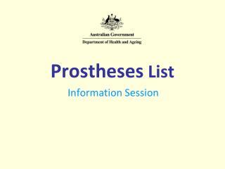 Prostheses  List