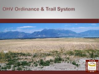 OHV Ordinance & Trail System