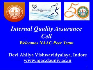 Internal Quality Assurance Cell Welcomes NAAC Peer Team