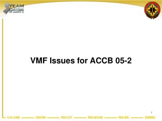vmf issues for accb 05-2