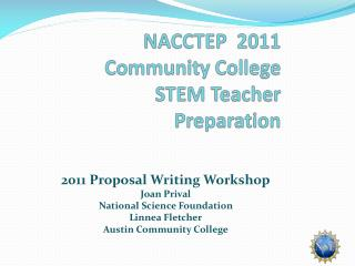 NACCTEP  2011 Community College STEM Teacher Preparation