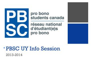 PBSC UY Info Session
