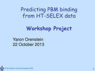 Predicting PBM binding  from HT-SELEX data Workshop Project