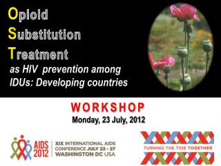 as HIV  prevention among IDUs: Developing countries