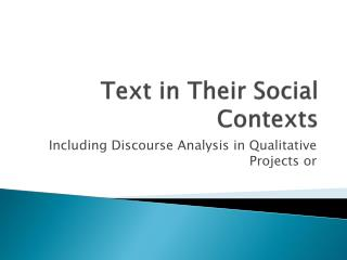 Text in Their Social Contexts
