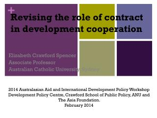 Revising the role of contract in development cooperation