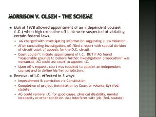 Morrison v. Olsen – the Scheme