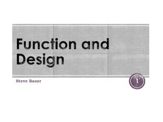 Function and Design