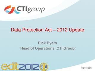 Data Protection Act – 2012 Update
