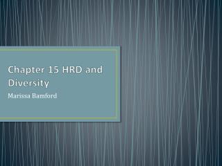 Chapter 15 HRD and Diversity