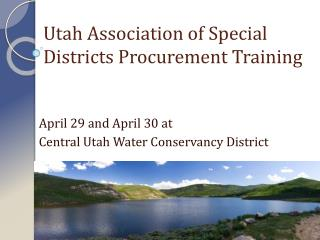 Utah Association of Special Districts Procurement Training