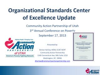 Organizational Standards Center of Excellence Update