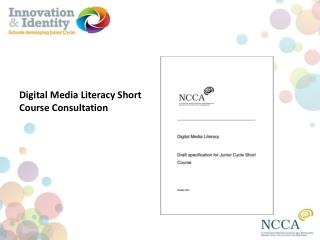 Digital  Media  Literacy Short Course Consultation