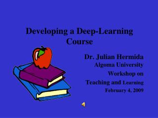 Developing a Deep-Learning Course